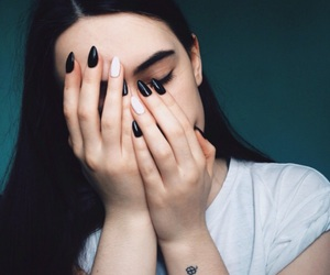 nails, face, and girl image