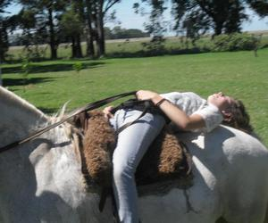 girl, horse, and relax image