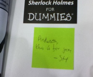 sherlock, anderson, and dummies image