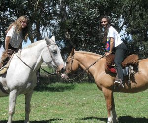 girls, horses, and friends image