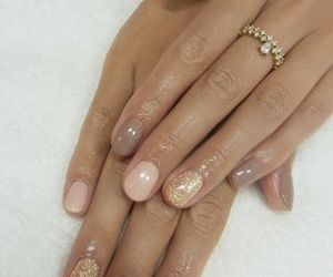 nails, glitter, and manicure image