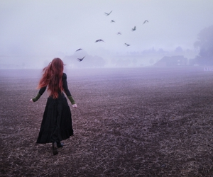 fantasy, girl, and red hair image