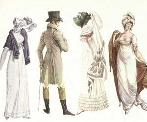 bonnet, top hat, and empire waist image