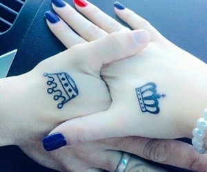 tattoo, king, and Queen image
