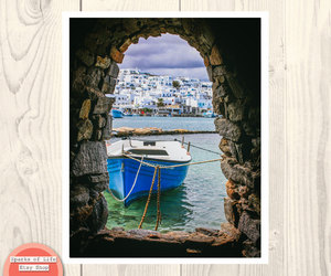 blue, fine art photography, and greek islands image