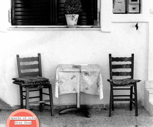 black and white, chairs, and etsy image