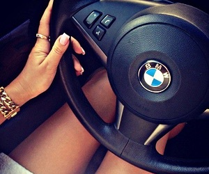 bmw, car, and girl image