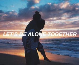 couple, beach, and tumblr image