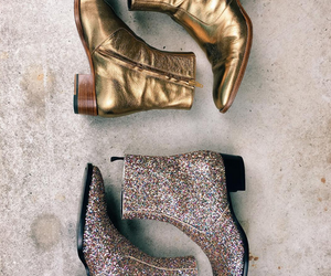 boots, glitter, and fashion image