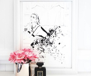 flowers, coco chanel, and pink image