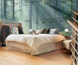 bed, dreams, and nature image