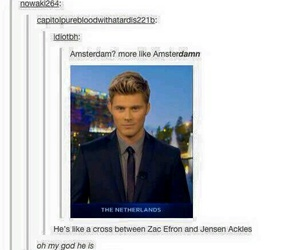 amsterdam, Hot, and Jensen Ackles image