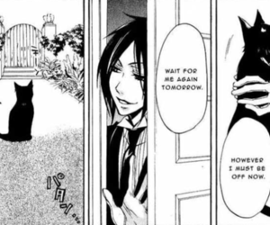 anime, black and white, and black butler image