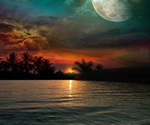 dreams, ocean, and sunset image