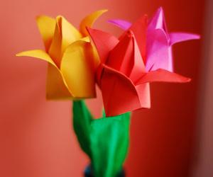 diy, origami, and kwiaty image