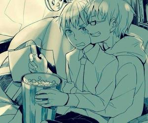 anime, hetalia, and boylove image