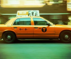cab, city, and new york city image