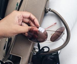 bag, fashion, and sunglasses image