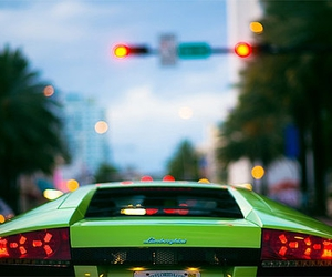 Lamborghini, green, and car image