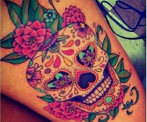 tattoo, skull, and tatto image