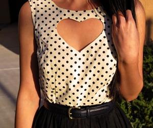 fashion, heart, and dress image