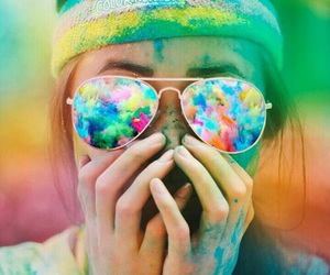 colors, tumblr girl, and glasses image