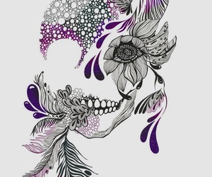 skull, black, and purple image