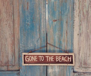 wood and gone to the beach image