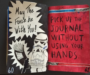 star wars, wreck this journal, and my wreck this journal image