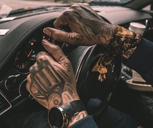 tattoo and car image
