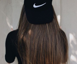 nike, hair, and tumblr image