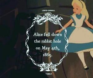 alice in wonderland, alice, and rabbit hole image