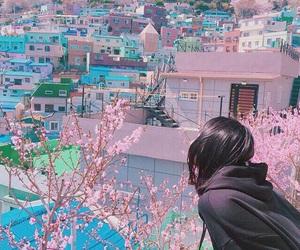 girl, pink, and japan image
