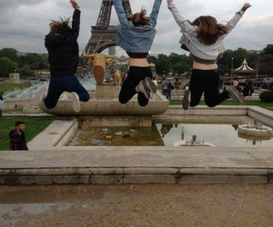 best friends, bff, and eiffel tower image