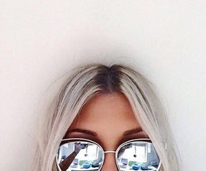 girl, sunglasses, and hair image