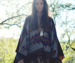 feathers, poncho, and foreverhair.se image