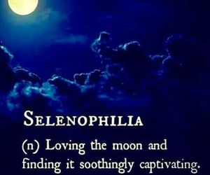 moon, night, and selenophilia image