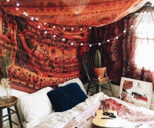 bedroom, home, and boho image