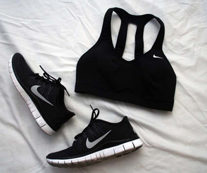 nike, black, and sport image