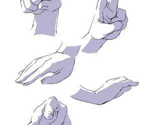 anime, drawing, and hands image