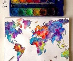 art, world, and colors image