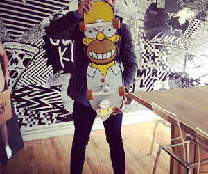 simpsons, skate, and style image