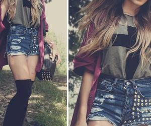 fashion, jaqueta, and shorts image