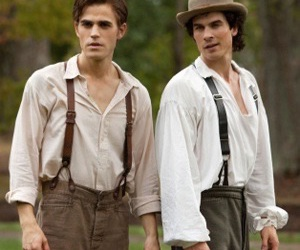damon, stefan, and the vampire diaries image
