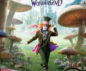 alice in wonderland, poster, and alice no pais das maravilhas image