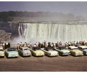 vintage, niagara falls, and car image