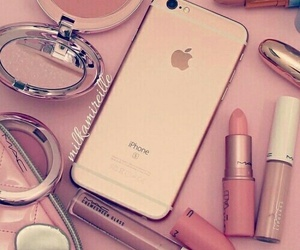 iphone, makeup, and pink image