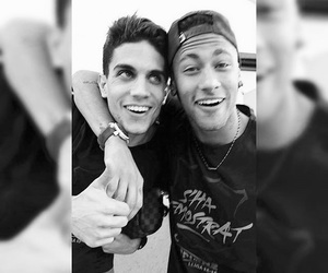b&w, fc barcelona, and marc bartra image