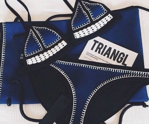 triangl, bikini, and fashion image