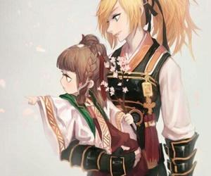 rose, anime art, and elsword image